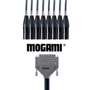 D-Sub Serial DB25 to XLR Male   Mogami Analog Tascam 8 Way Multicore Snake Loom