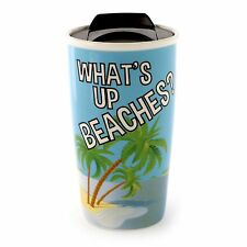 Our Name Is Mud Margaritaville What's Up Beaches Travel Mug #6000152 NIB