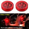 2x Car Door Opened Warning Wireless Flash Caution Light Anti-collid Accessories