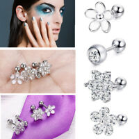 1 Pair Ear Stud Ring 16G CZ Ear Tragus Labret Lip Pin Ring Body Piercing Jewelry