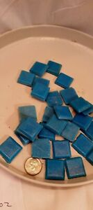 3/4 inch Blue Vitreous Glass Mosaic Tiles - 30 Tiles Arts and crafts