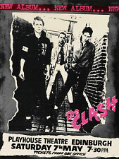 The Clash Concert Poster Canvas Art Print Punk Rock Wall Decor
