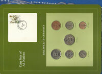 Coin Sets of All Nations Guernsey w/card 1979-1984 UNC £1, 20, 50 Pence 1983