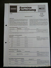 Original Service Manual  Grundig RF 620 RF 640 Grundchassis RC 202