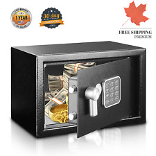 Electronic Compact Digital Touch Locking Home Safe w/ Dual Fireproof Steel Door