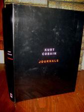 1st Edition JOURNALS Kurt Cobain NIRVANA Illustrated MUSIC First Printing