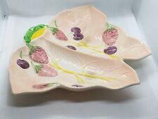 Art Pottery Avon Ware Strawberry & Cherries On Leaf Pattern Dish