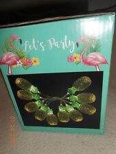 New Box Let's Party Pineapple LED string lights lot 10ct battery operated on/off