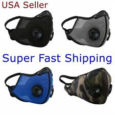 Face Mask Mesh Cover Dual Exhalation Valves Covering Reusable with PM 2.5 Filter