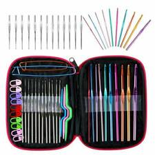 100PCS Crochet Hook Set Kit Yarn Knitting Needles Ergonomic Plastic Aluminium US