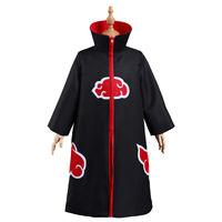 Anime Akatsuki Clothing Thicken Jacket Cosplay Sweater Hoodie Black Coat