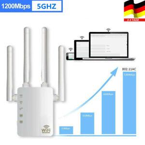 Wireless WiFi Router WLAN Repeater Signal Verstärker WPS 1200Mbps mit 4 Antenne