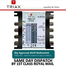 New TRIAX TMDS 42C dSCR Multiswitch [307638] WITH 20v POWER SUPPLY for Sky Q