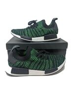Adidas Originals NMD R1 STLT Primeknit Noble Green AQ0936 Black NIB PK Mens