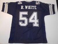 UNSIGNED CUSTOM Sewn Stitched Randy White Blue Jersey - M, L, XL, 2XL