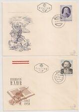 2 COVERS AUSTRIA AUTRICHE LINZ WIEN HERMANN BAHR EUGENIUS. 1963. L1005