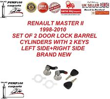 RENAULT MASTER II 1998-2010 SET OF 2 DOOR LOCK BARREL CYLINDER & 2 KEYS LH+RH
