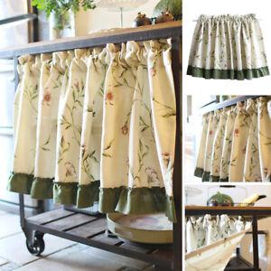 Small Half Curtain Short Curtains Valance Blackout Kitchen Cabinet Door Window