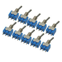 10pcs Mini MTS-102 3-Pin SPDT ON-ON 6A 125VAC Toggle Switches Kits High Quality