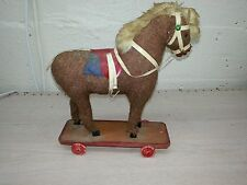 Vintage Pull Toy Horse wood