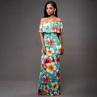 Women Summer Boho Floral Long Maxi Evening Party Cocktail Beach Dresses Sundress