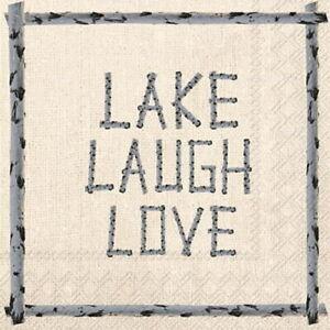 Boston International - Lake Laugh Love Cocktail Napkin - C586600