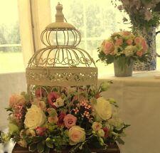 12 LARGE CREAM WEDDING BIRD CAGES WEDDING CENTREPIECES VINTAGE CREAM BIRDCAGE