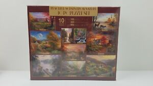 Peaceful Scenes Of Nature 10 PUZZLES Derk Hansen New & Sealed 3400 PCS Free Ship