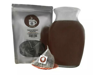 Triple Berry Pyramid Sachets Herbal Loose Leaf Tea ICED or HOT