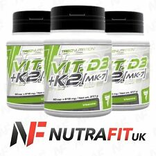 TREC NUTRITION VIT D3 + K2 MK-7 vitamin D K bones immune system support