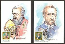 Vatican City Sc# 1020-4: St. Celestine and St. Alfonso, 2 Maxi Cards