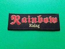 PUNK ROCK HEAVY METAL MUSIC SEW / IRON ON PATCH:- RAINBOW RISING