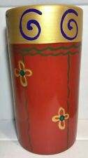 Pier 1 Imports Vase Made in Italy Terracotta Hand Painted Exclusively Made NWOB