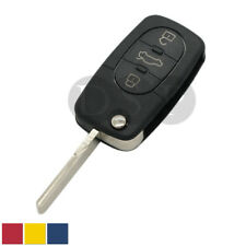 Flip Remote Key Fob Case Shell Battery CR1620 fit for AUDI A4 A6 A8 TT 3 Button