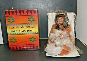 Native American Porcelain Indian Doll - # 25188 NPD - ABC Distributing, Inc
