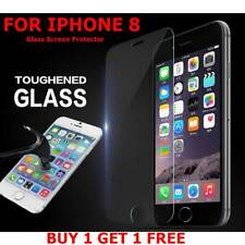 100% GENUINE TEMPERED GLASS FILM SCREEN PROTECTOR FOR APPLE IPHONE 8 - NEW - UK*