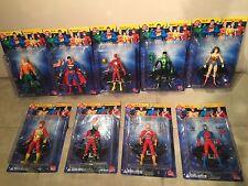 DC Direct JLA Complete Set lot of 9 Superman Aquaman Wonder Woman Flash Atom +++