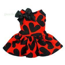 Fitwarm Casual Dog Princess Dress Dog Shirt Pet Clothes Wedding Bow Cat Apparel