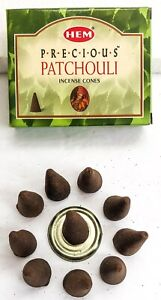 Hem Patchouli Incense Cones for Aromatherapy- 10-20-30-50-100-120 Free Shipping!