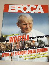 EPOCA=1986/1882=PAPA POPE WOJTYLA=REINHOLD MESSNER=ADRIANO CELENTANO IL BURBERO=