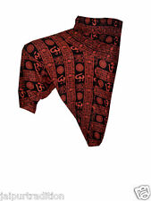 INDIAN ALI BABA HAREM YOGA MEN WOMEN TROUSER BAGGY GYPSY BOHO HIPPIE OM PANT3