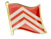 Glamorgan : County Flag Enamel Lapel Pin Badge (UK SELLER - FREE UK POST)