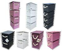 4-Drawer/ 2-Drawer Storage Unit Polypropylene Metal Frame Pink/Purple/White X 1