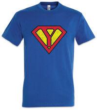 Super Y T-Shirt Buchstabe Vatertag Muttertag Comic Geschenk Geschenkidee Opa Oma