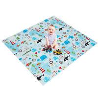 "77.6"" x 68.9"" 0.4"" Folding Baby Play Mat  Large Reversible Crawling Kid PlayMat"