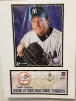 YANKEES Roger Clemens Matted Framed Baseball Photo With Usps Stamp / Envelope