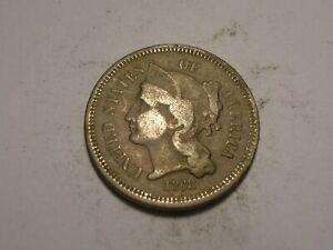 1868 Three Cent Piece (Dark Toning)