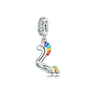 New European Silver Cz Charm Crystal Beads Fit Necklace Bracelet Chain Diy J098
