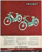 PUBLICITE ADVERTISING 105  1964  Peugeot & Terrot  cyclomoteur mobylette