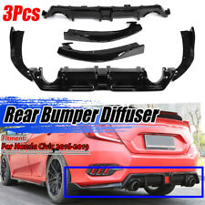 For 2016-2019 Honda Civic Sedan 10th X Gen FC1 FC2 Style Rear Bumper Diffuser
